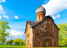 Orthodox brick church Stock Photo