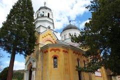 Orthodox Bulgarian Church. Orthodox church The Intercession of the Theotokos in The Kremikovtsi Monastery of Saint George close to Sofia, Bulgaria Stock Photography