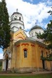 Orthodox Bulgarian Church. Orthodox church The Intercession of the Theotokos in The Kremikovtsi Monastery of Saint George close to Sofia, Bulgaria Stock Photo