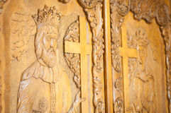 Orthodox carved wood Royalty Free Stock Image
