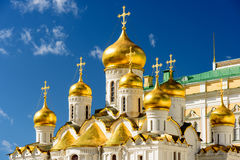An orthodox cathdral with its golden domes Royalty Free Stock Image