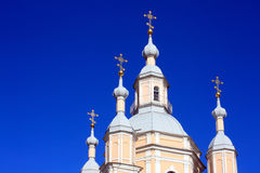 Orthodox cathedral. Andreyevsky Orthodox church in St.Petersburg, Russia Stock Images