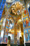 Orthodox cathedral. Interior of the Church of the Savior on Spilled Blood in St. Petersburg, Russia Stock Image