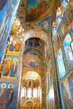Orthodox cathedral. Interior of the Church of the Savior on Spilled Blood in St. Petersburg, Russia Royalty Free Stock Photos