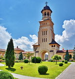 Orthodox Cathedral in Alba Iulia Stock Photo