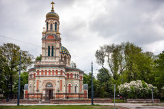 Orthodox Cathedral of Alexander Nevsky Stock Photos