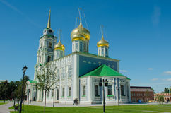 The Orthodox Cathedral with a bell tower Tula. The Orthodox Church, the Cathedral with a bell tower Tula Royalty Free Stock Photos
