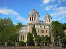 Orthodox cathedral in Brasov old town Stock Photography