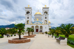 The Orthodox Cathedral Church of St. Jovan Vladimir, Bar, Montenegro Royalty Free Stock Image