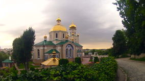 Orthodox Cathedral church Timelapse. 4K stock footage
