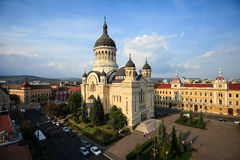 Orthodox Cathedral 2. Orthodox Cathedral from Cluj Napoca, Romania, situated in Avram Iancu Square Royalty Free Stock Photos