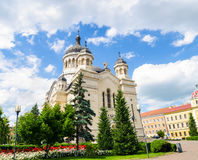 Orthodox Cathedral in Cluj Napoca, Transylvania region of Romania Stock Photos