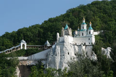 Orthodox cathedral in the cretaceous mountain Royalty Free Stock Photo