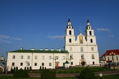 Orthodox Cathedral of the Descent of the Holy Spirit in Minsk Royalty Free Stock Image