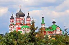 Orthodox cathedral in Feofaniya, Kiev Royalty Free Stock Images