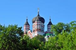 Orthodox cathedral in Feofaniya Royalty Free Stock Image