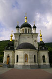 Orthodox Cathedral from Foros Crimea ,Ukraine. Orthodox Cathedral in Byzantine style,Crimea ,Ukraine Stock Photo