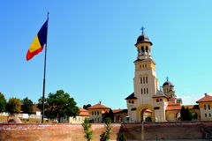 Orthodox cathedral in the fortress of Alba Iulia, Transylvania Stock Photos