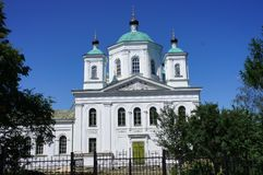 Orthodox Cathedral in the glorious city of Kashin, Tver region Royalty Free Stock Photography