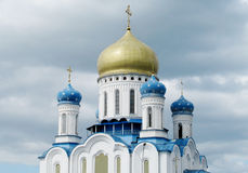 Orthodox Cathedral of the Holy Cross in Uzhorod stock image