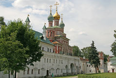 Orthodox Cathedral of the Holy Virgin Protection over the Southern gate of Novodevichy Convent, Moscow Stock Photography
