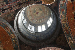 Orthodox Cathedral -  inside the church 3. Orthodox Cathedral of Saints Peter and Paul in Constanta Romania - details inside Stock Image