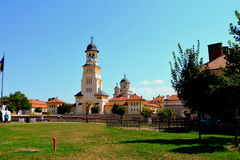 Orthodox cathedral inside the fortress of Alba Iulia, Transylvania Royalty Free Stock Images