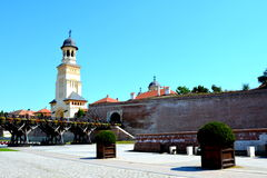 Orthodox cathedral inside the fortress of Alba Iulia, Transylvania Stock Photography