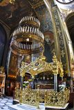 Orthodox Cathedral Interior. Inside view of Vladimir's Cathedral in Kiev, Ukraine Stock Photos