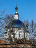 Orthodox Cathedral of the Kazan icon of the Mother of God in the town of Yukhnov in Russia. Royalty Free Stock Image