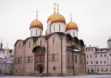 Orthodox Cathedral in Kremlin. Old russian orthodox cathedral inside Kremlin Stock Photography