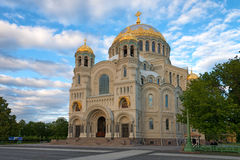 Orthodox cathedral in Kronstadt Royalty Free Stock Photography