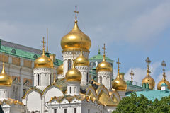Orthodox Cathedral in the Moscow Kremlin. Stock Images