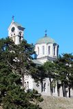 The Orthodox cathedral in Niksic, Montenegro stock images