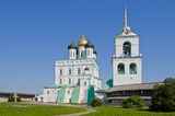 Orthodox cathedral. In the Pskov Kremlin. Russia Stock Photos
