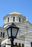 Orthodox cathedral revived from ruins Stock Image