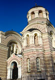 Orthodox Cathedral in Riga Stock Image
