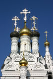 Orthodox cathedral in russia. Russian orthodox cathedral in the kaliningrad area (former east prussia Stock Photos