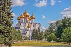 Orthodox cathedral in Russia. Orthodox cathedral in Yaroslavl. Russia Stock Image