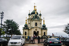 Orthodox cathedral in the seaside city. Of Crimea Royalty Free Stock Photos
