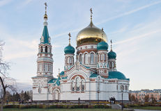 The orthodox cathedral in Siberia Stock Images