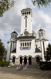 Orthodox cathedral in Sighisoara       , Romania Royalty Free Stock Photo