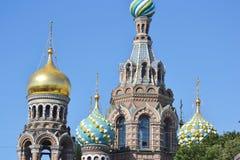 Orthodox cathedral Spas na Krovi Stock Image