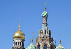 Orthodox cathedral Spas na Krovi Stock Photography