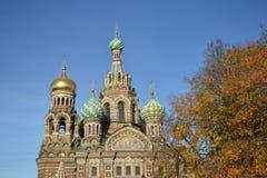 Orthodox cathedral Spas na Krovi. Royalty Free Stock Photo