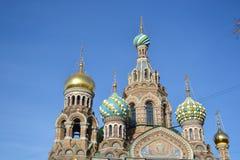 Orthodox cathedral Spas na Krovi. Stock Photos