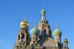 Orthodox cathedral Spas na Krovi. Royalty Free Stock Image