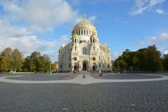 Orthodox cathedral of St. Nicholas in town Kronshtadt Royalty Free Stock Photo