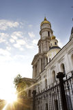 Orthodox cathedral in sunrays Royalty Free Stock Images