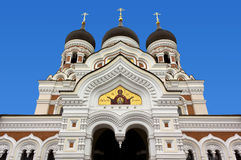 Orthodox Cathedral in Tallinn Royalty Free Stock Images